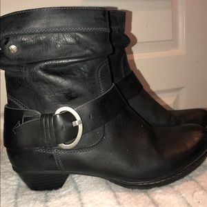 COPY - Pikolinus Black Leather Ankle Boots